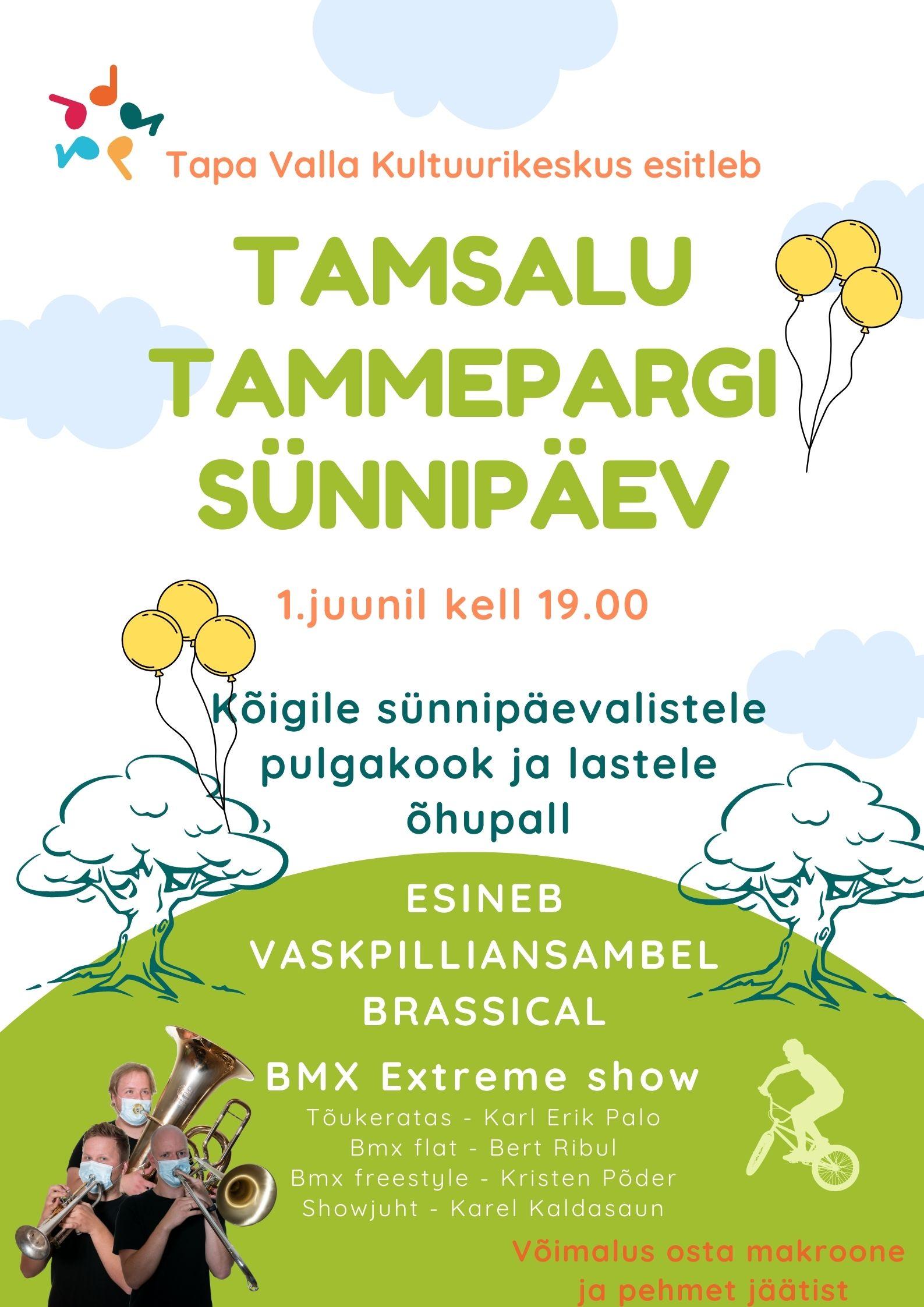 EV100 tammepargid tähistavad sünnipäeva Tamsalus!