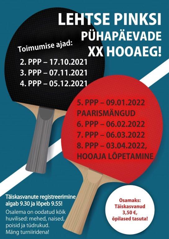 Lehtse Pinksi Pühapäevade XX hooaeg! 3.etapp.
